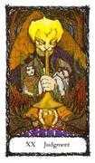 Judgement Tarot card in Sacred Rose Tarot deck