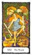 The World Tarot card in Sacred Rose Tarot deck