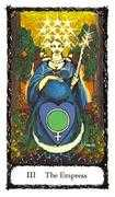 The Empress Tarot card in Sacred Rose deck