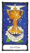 Ace of Cups Tarot card in Sacred Rose deck