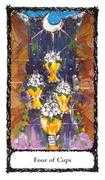 Four of Cups Tarot card in Sacred Rose deck