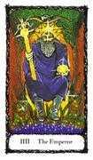 The Emperor Tarot card in Sacred Rose Tarot deck