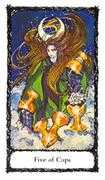 Five of Cups Tarot card in Sacred Rose deck