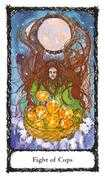Eight of Cups Tarot card in Sacred Rose deck