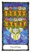 Ten of Cups Tarot card in Sacred Rose Tarot deck