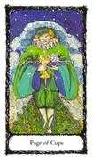 Page of Cups Tarot card in Sacred Rose Tarot deck