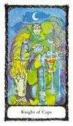 Knight of Cups Tarot card in Sacred Rose Tarot deck