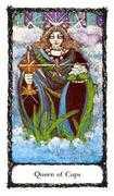 Queen of Cups Tarot card in Sacred Rose deck