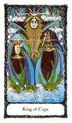 King of Cups Tarot card in Sacred Rose deck