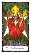 The Hierophant Tarot card in Sacred Rose deck
