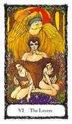 The Lovers Tarot card in Sacred Rose Tarot deck