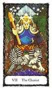 The Chariot Tarot card in Sacred Rose deck