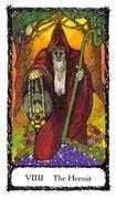 The Hermit Tarot card in Sacred Rose Tarot deck