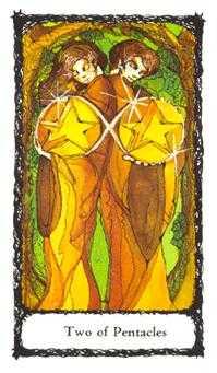 Two of Pentacles Tarot Card - Sacred Rose Tarot Deck