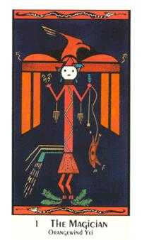 The Magus Tarot Card - Santa Fe Tarot Deck