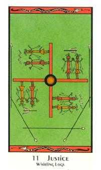 Justice Tarot Card - Santa Fe Tarot Deck