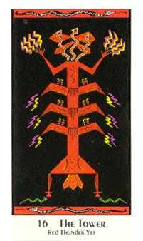 The Falling Tower Tarot Card - Santa Fe Tarot Deck