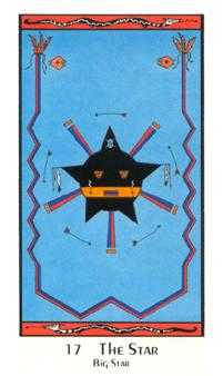 The Star Tarot Card - Santa Fe Tarot Deck