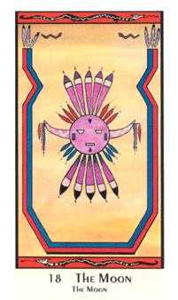 The Moon Tarot Card - Santa Fe Tarot Deck