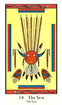 The Sun Tarot Card - Santa Fe Tarot Deck