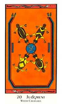The Judgment Tarot Card - Santa Fe Tarot Deck