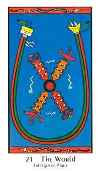 The World Tarot Card - Santa Fe Tarot Deck