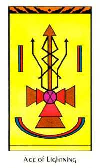 Ace of Lightening Tarot Card - Santa Fe Tarot Deck