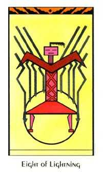 Eight of Lightening Tarot Card - Santa Fe Tarot Deck