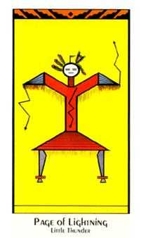 Page of Lightening Tarot Card - Santa Fe Tarot Deck