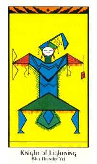 Knight of Lightening Tarot Card - Santa Fe Tarot Deck