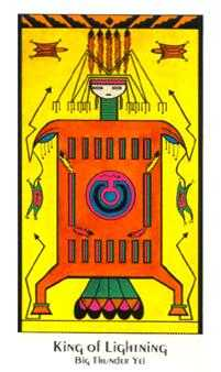 King of Lightening Tarot Card - Santa Fe Tarot Deck
