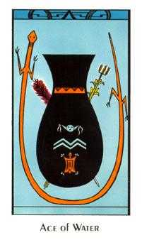 Ace of Bowls Tarot Card - Santa Fe Tarot Deck