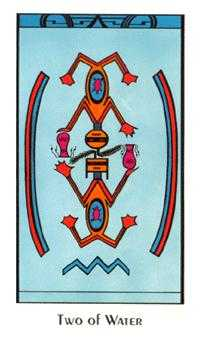 Two of Water Tarot Card - Santa Fe Tarot Deck