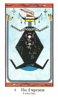 The Emperor Tarot Card - Santa Fe Tarot Deck