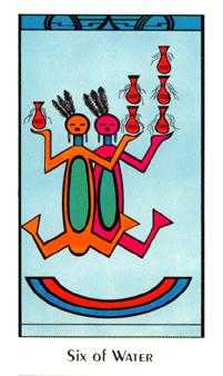 Six of Ghosts Tarot Card - Santa Fe Tarot Deck