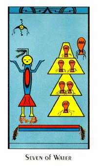 Seven of Cups Tarot Card - Santa Fe Tarot Deck