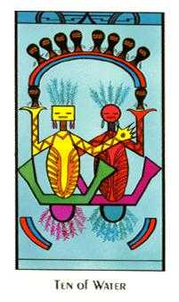 Ten of Hearts Tarot Card - Santa Fe Tarot Deck