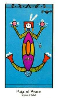 Page of Cauldrons Tarot Card - Santa Fe Tarot Deck