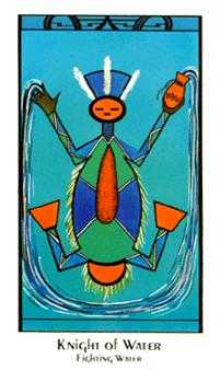 Water Warrior Tarot Card - Santa Fe Tarot Deck