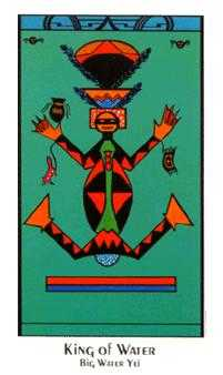 Roi of Cups Tarot Card - Santa Fe Tarot Deck