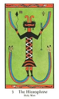 The High Priest Tarot Card - Santa Fe Tarot Deck