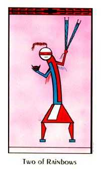 Two of Arrows Tarot Card - Santa Fe Tarot Deck