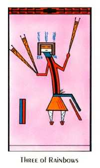 Three of Wind Tarot Card - Santa Fe Tarot Deck