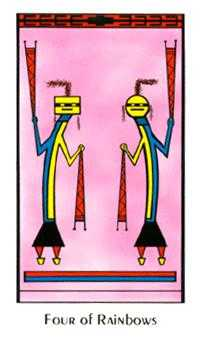 Four of Arrows Tarot Card - Santa Fe Tarot Deck