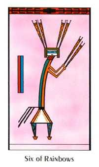 Six of Rainbows Tarot Card - Santa Fe Tarot Deck