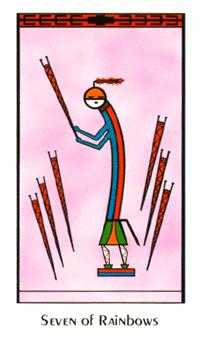 Seven of Arrows Tarot Card - Santa Fe Tarot Deck