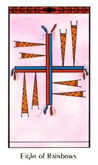 Eight of Arrows Tarot Card - Santa Fe Tarot Deck
