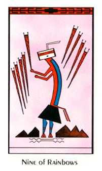 Nine of Arrows Tarot Card - Santa Fe Tarot Deck