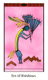Ten of Arrows Tarot Card - Santa Fe Tarot Deck