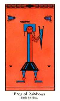 Daughter of Swords Tarot Card - Santa Fe Tarot Deck
